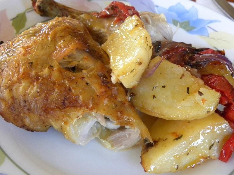 Κοτόπουλο με τραγανή πέτσα εικόνα