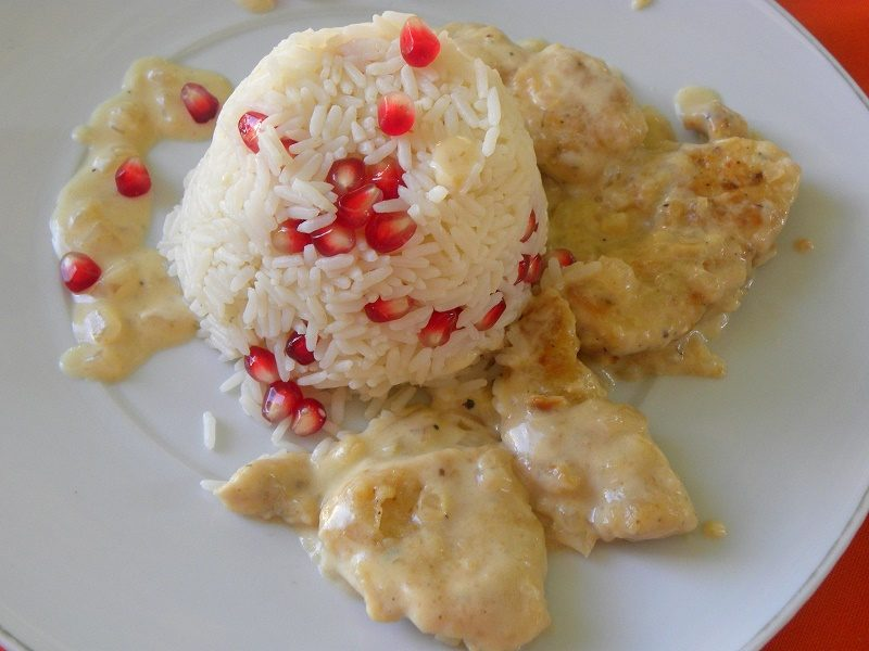 ρύζι πιλάφι με ρόδι εικόνα