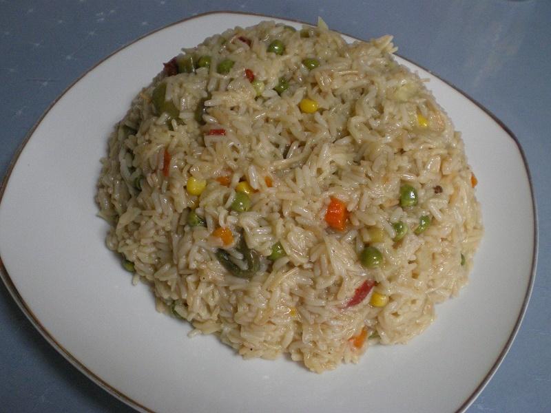 ρύζι πιλάφι με λαχανικά εικόνα