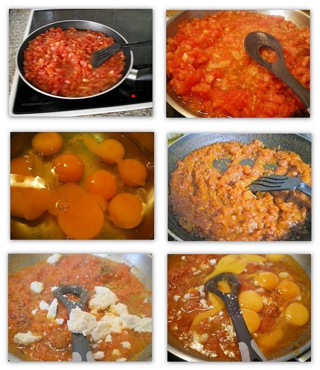 Κολάζ μαγειρεύοντας καγιανά εικόνα
