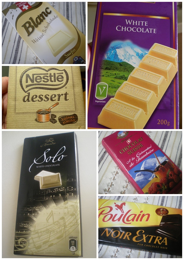 κολάζ σοκολάτες εικόνα