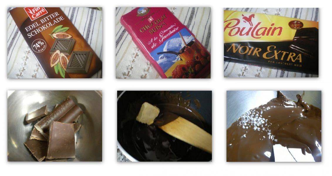 κολάζ-Γκανάς-γλάσο-Σοκολάτας