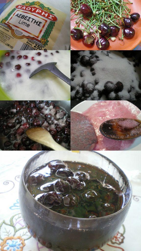 Κολάζ γλυκό κεράσι με ασβέστη εικόνα