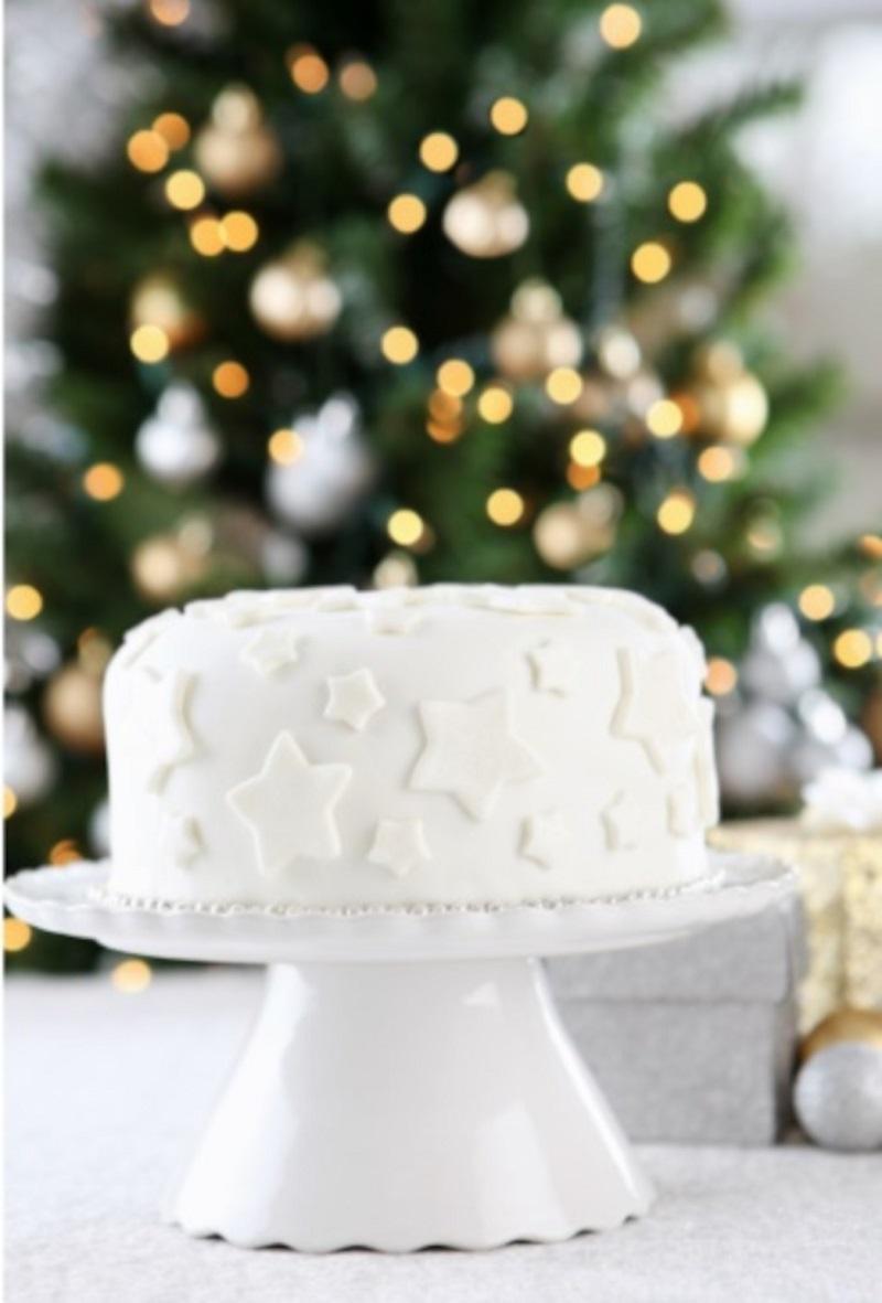 Λευκό Χριστουγεννιάτικο Κέικ Φρούτων