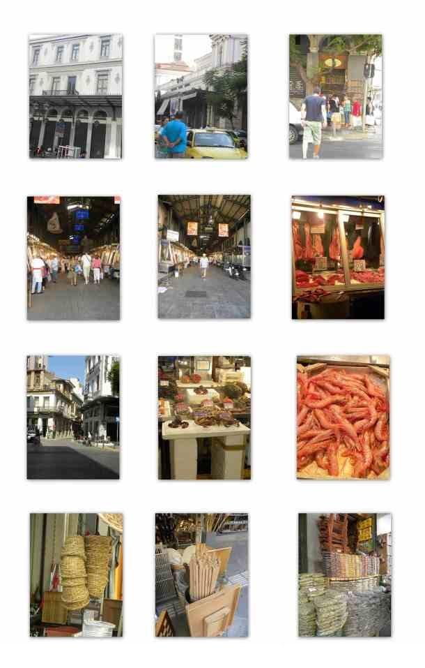 Κολάζ Βαρβάκειος αγορά εικόνα