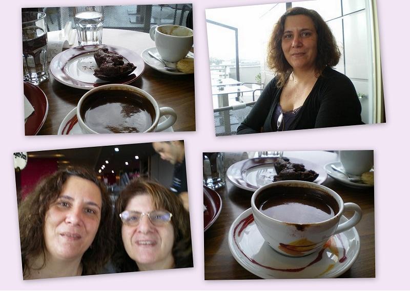 Κολάζ καφεδάκι με τη Μαριάνα εικόνα