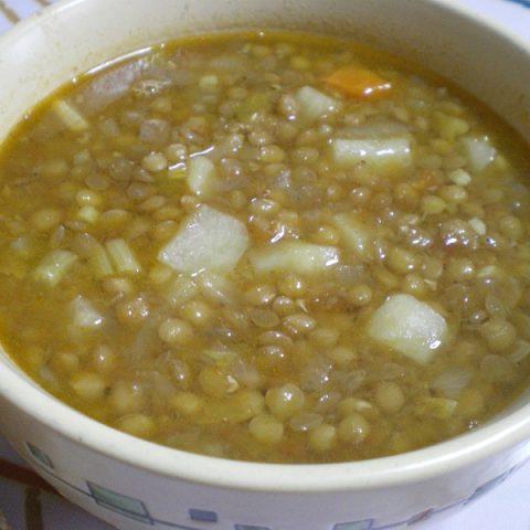 φακές σούπα σε μπωλ εικόνα