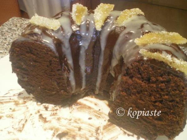 Κέικ με καραμελωμένες φλούδες λεμονιού εικόνα