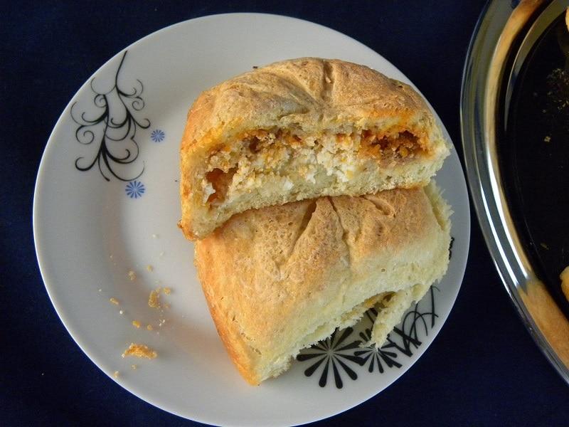 Ψωμάκια Γεμιστά με Κιμά και Φέτα εικόνα