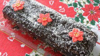 Χριστουγεννιάτικο Ρολό Σοκοφρέτας με Καρύδα