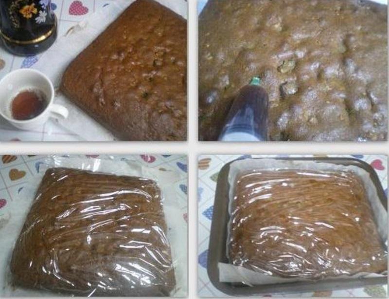 κολάζ προετοιμασία χριστουγεννιάτικο κέικ εικόνα