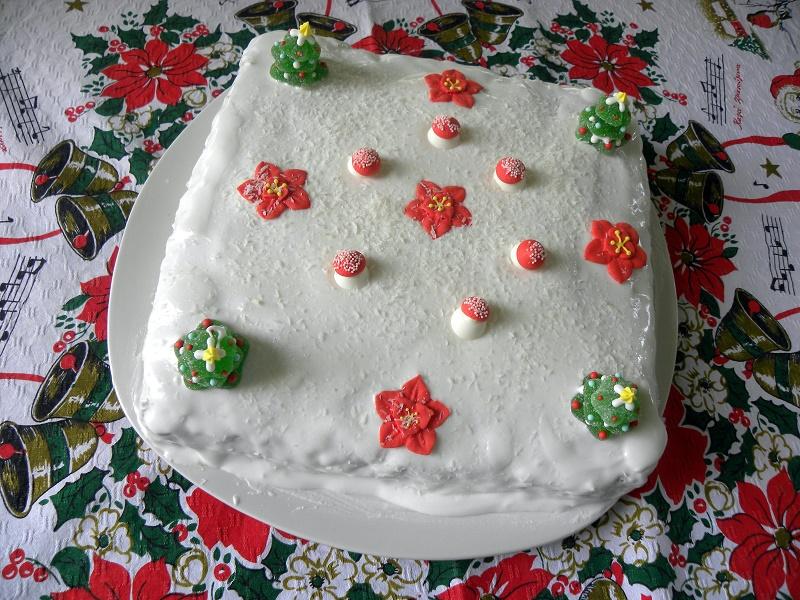 Μη παραδοσιακό Χριστουγεννιάτικο κέικ εικόνα