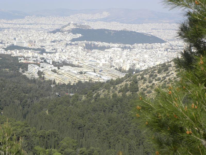 Αθήνα θέα του Λυκαβηττού και Πανεπιστημιούπολης