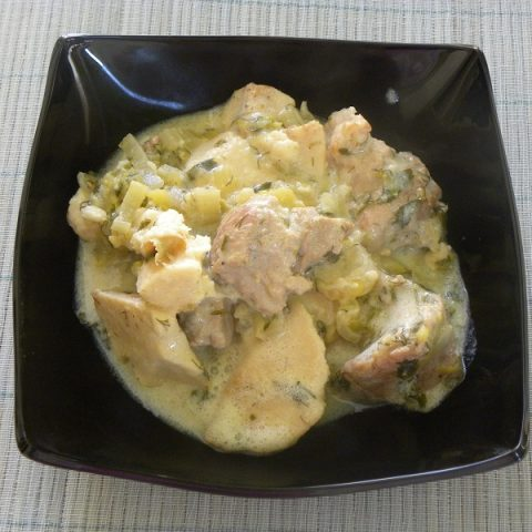 Κολοκάσι με Χοιρινό, αυγολέμονο