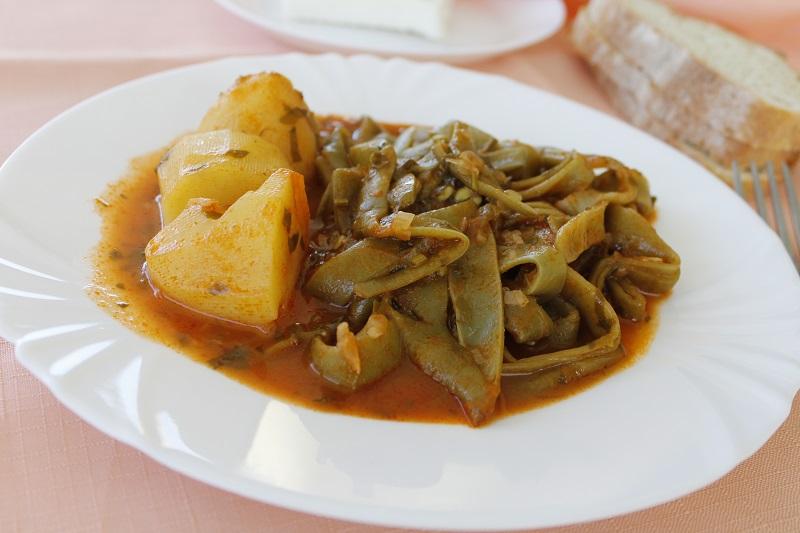 Φασολάκια Γιαχνί με Πατάτες