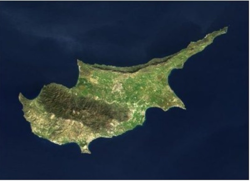 Η Κύπρος από δορυφόρο εικόνα