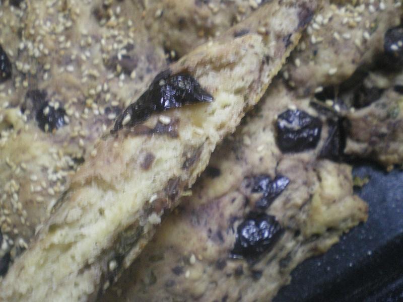 Φοκατσια λαγάνα με ελιές θρούμπες εικόνα