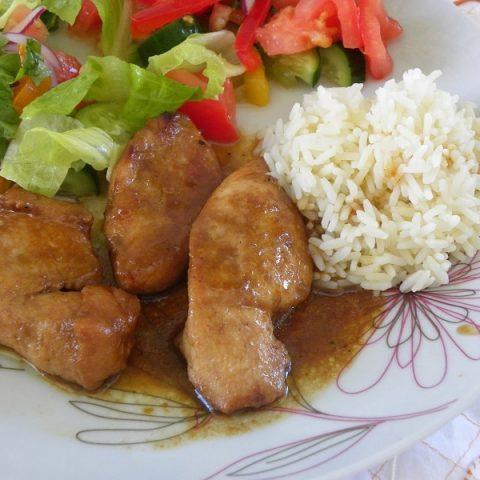 Κοτόπουλο Τεριάκι (Teriyaki) με Μανιτάρια ή Πορτοκάλι