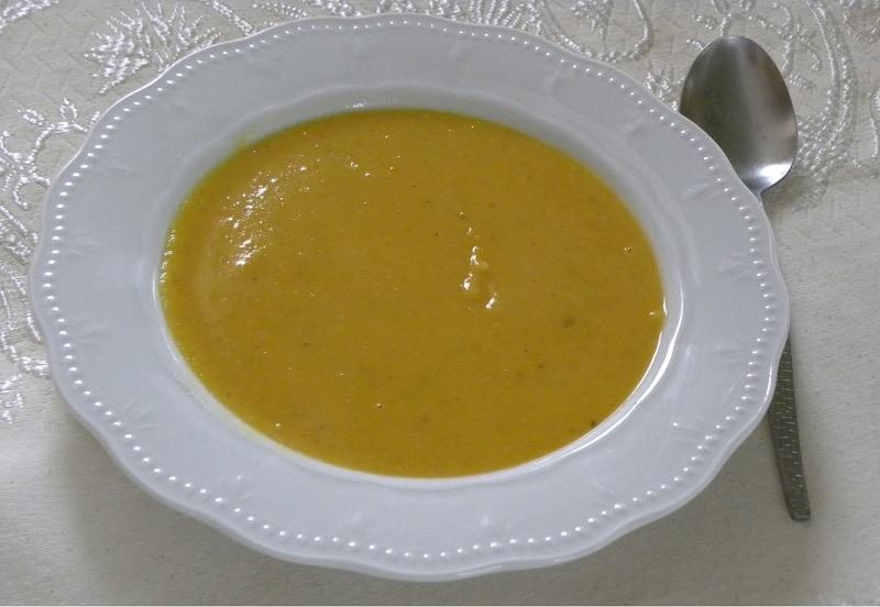 Σούπα κολοκύθας και φάβας εικόνα