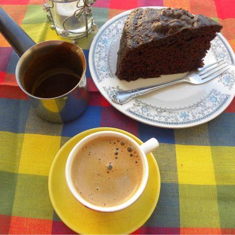 Σοκολατένιο Κέικ Με Τζίντζερ και Πετιμέζι εικόνα