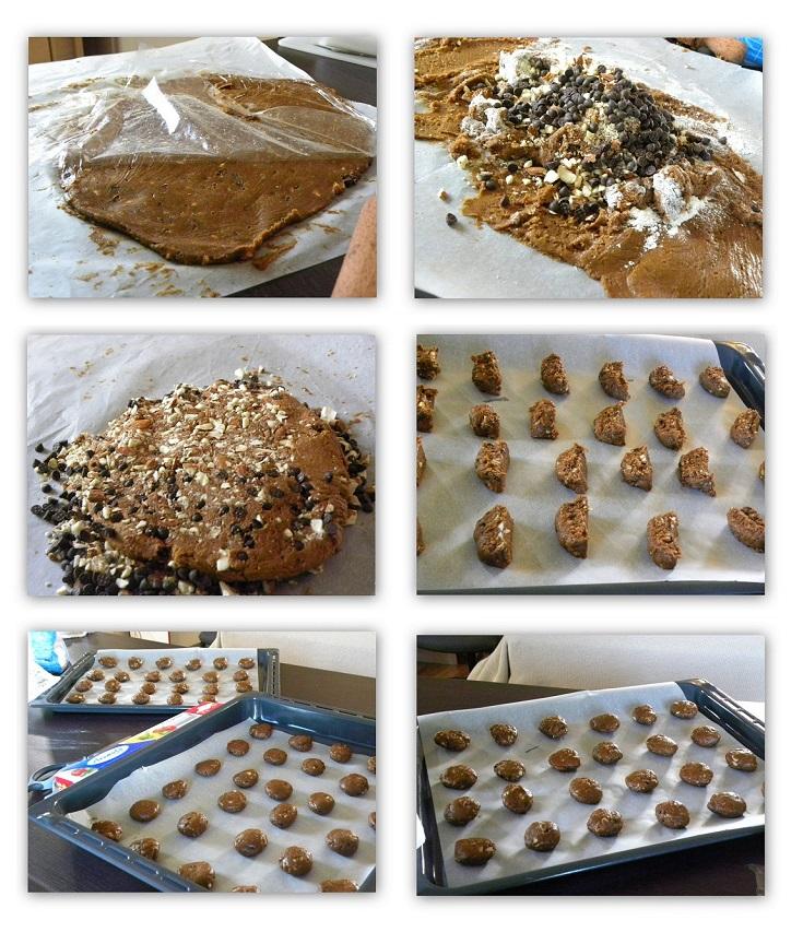 κολάζ κούκις τσιπς μαύρης σοκολάτας και πετιμέζι εικόνα
