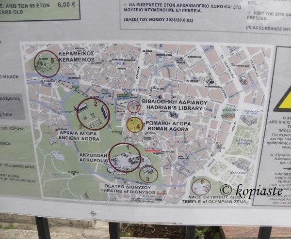 Αναφιώτικα: χάρτης αρχαιολογικού χώρου
