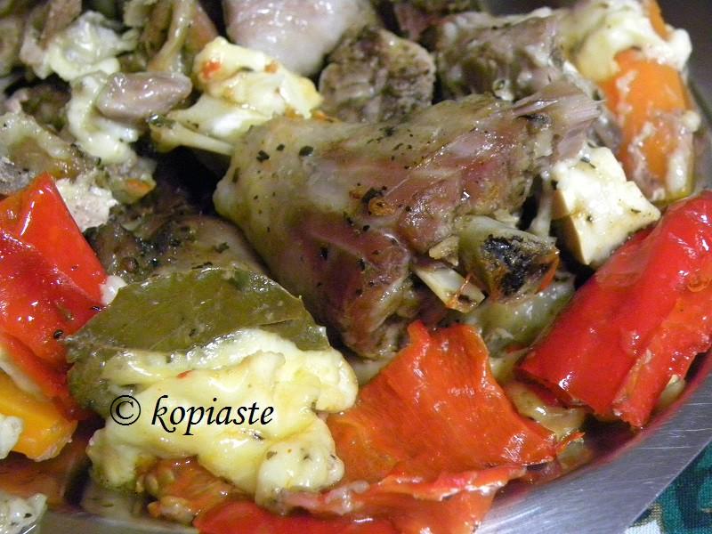 Γκιούλμπασι με πιπεριές και τυρί