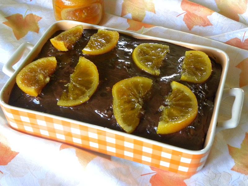 Κέικ με Καρύδια και Πορτοκάλι εικόνα