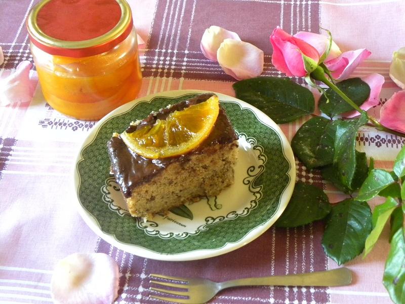 Κέικ με Καρύδια και σοκολάτα εικόνα