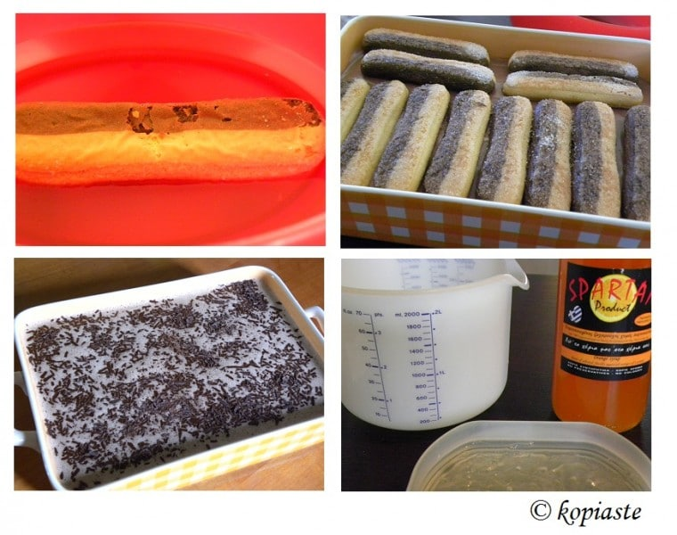 collage chocolate orange desserrt