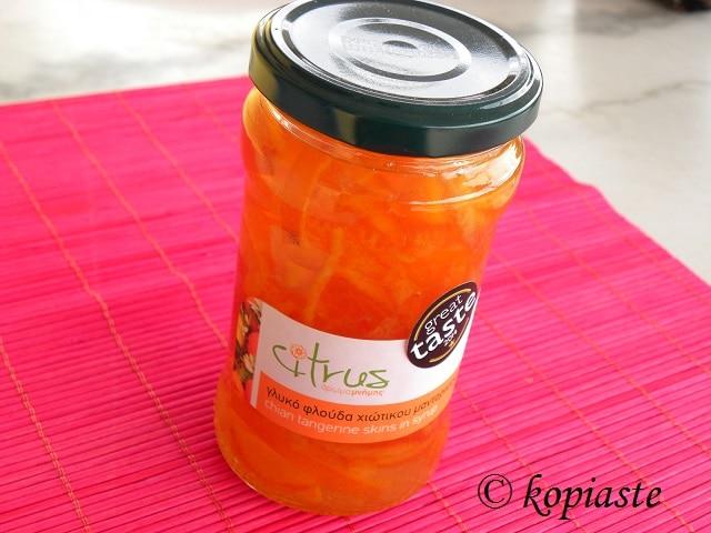 Mandarin fruit preserve