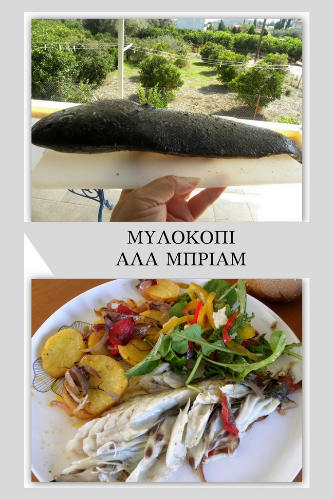 Ψάρι στο φούρνο αλά Μπριάμ εικόνα
