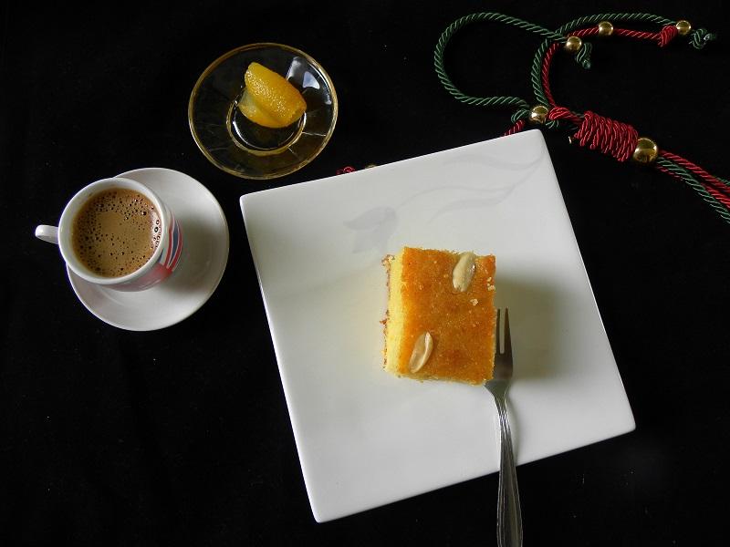 Ρεβανί με ελληνικό καφέ εικόνα