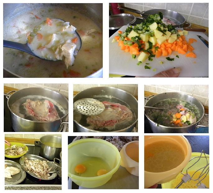 κολάζ κοτόσουπα εικόνα