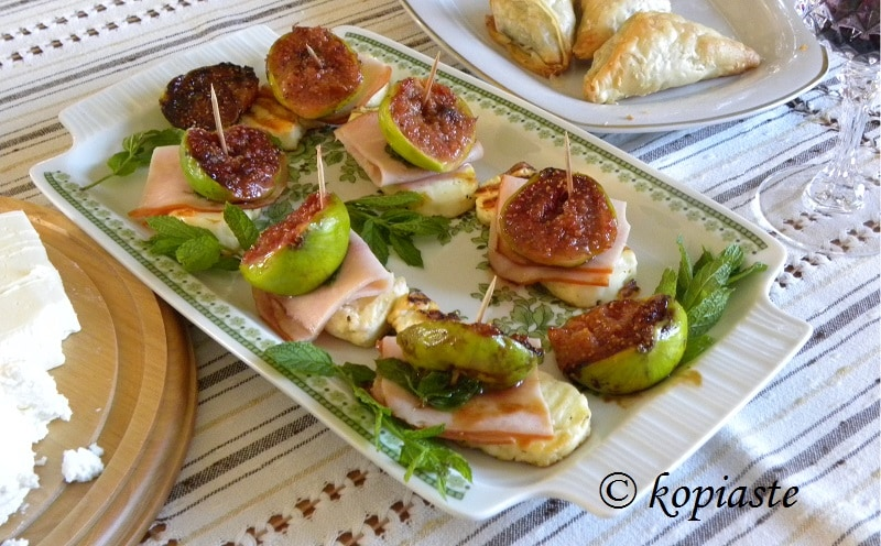 fig and halloumi appetizer