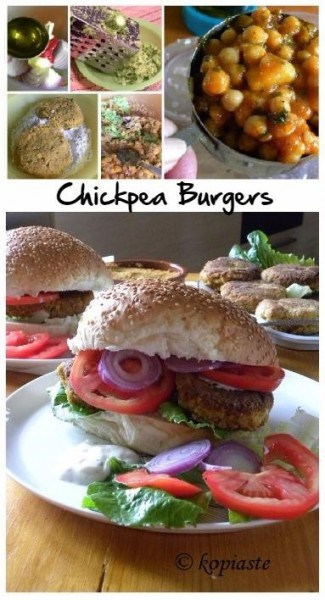 Collage new Chickpea Burgers