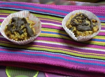 Εύκολα Μάφινς με Φυστικοβούτυρο, Καρύδα και Κρεμώδες Τυρί, Χωρίς Γλουτένη
