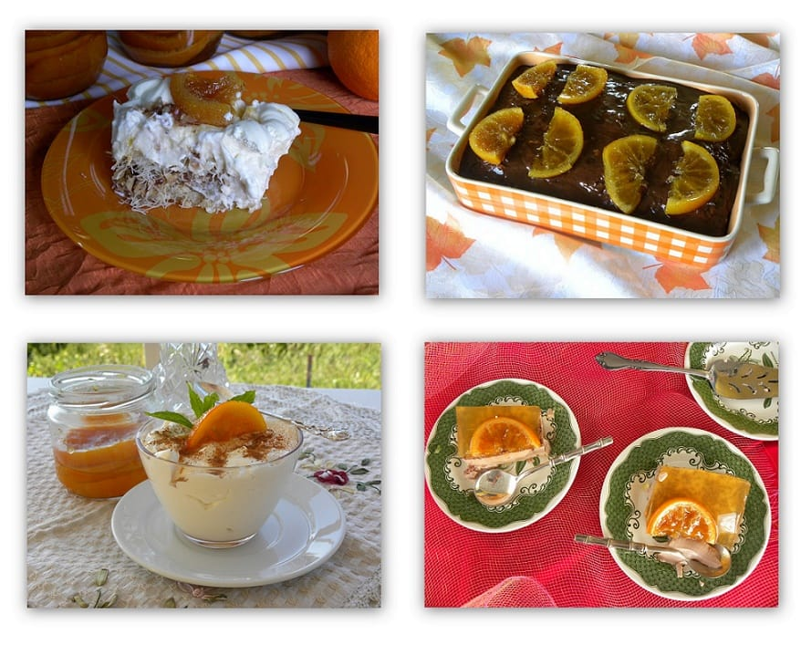 Γλυκά διάφορα με πορτοκάλι