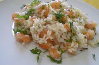 ριζότο με γαρίδες εικόνα