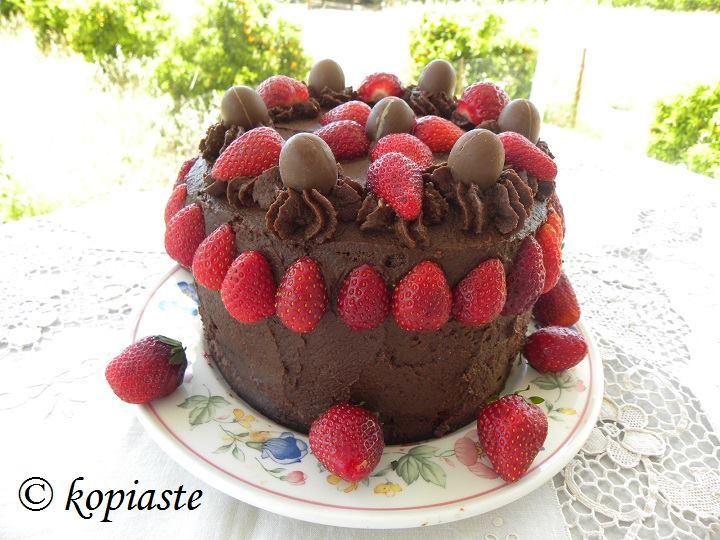 Τούρτα Σοκολάτας - Φράουλας