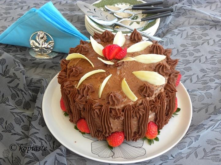 Τούρτα Σοκολάτας Φράουλας