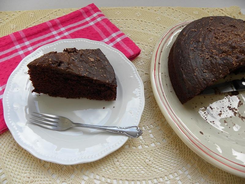 Κείκ Σοκολάτας Μαγιονέζας με γλάσο καπουτσίνο εικόνα