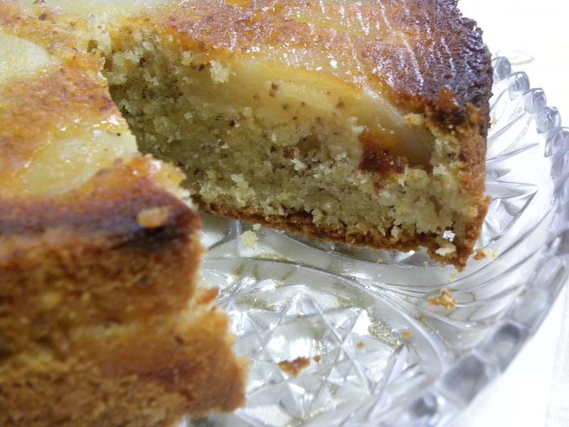 Αναποδογυρισμένο Κέικ Αχλαδιού με Αμύγδαλα και Μέλι φωτογραφία