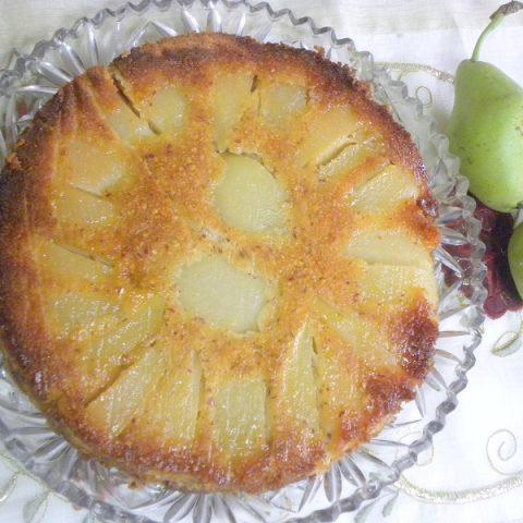 Αναποδογυρισμένο Κέικ με αχλάδια φωτογραφία