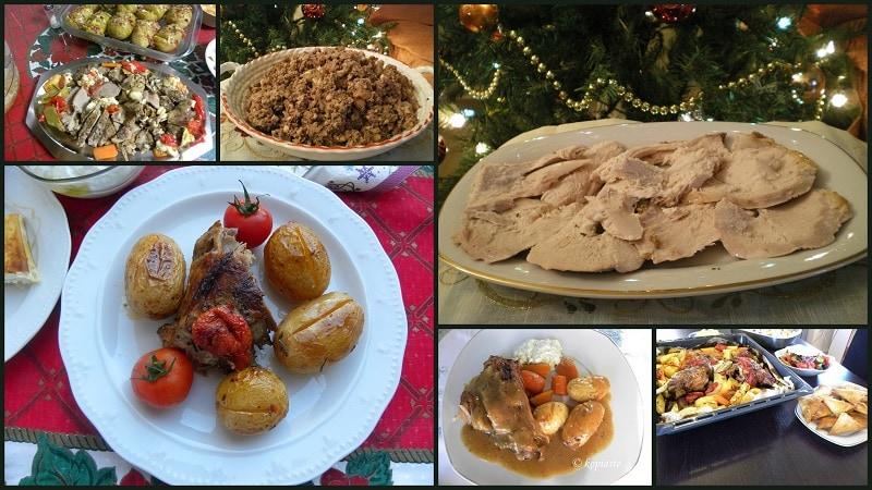 κολάζ Χριστουγεννιάτικες συνταγές εικόνα
