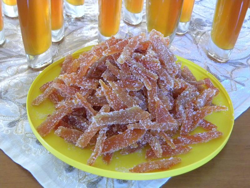 ζαχαρωμένες φλούδες μανταρινιού