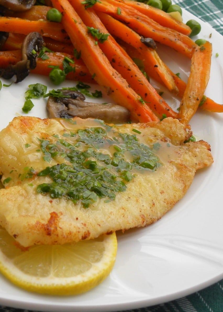 Ψητά καρότα με Ψάρι