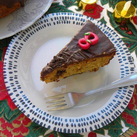 Σοκολατένιο Κέικ Αμυγδάλου και Βατόμουρου εικόνα