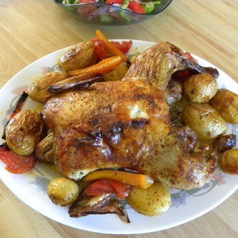 Κοτόπουλο Ψητό στο φούρνο, αλά Κυπριακά