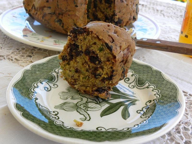 Νηστίσιμο αλμυρό κέικ ελιάς εικόνα